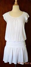Ella Moss Dress Size S White Pima Cotton