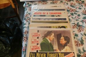LOT OF 18 VINTAGE MOVIE LOBBY CARDS POSTERS 1940's 50's 60's