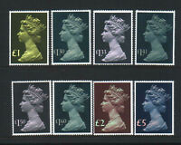 GB 1977-87 Machin Stamps to £5~8 Values ~SG 1026-28~Unmounted Mint~UK Seller