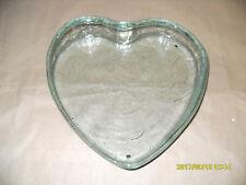 Herzform Herz Glasschale Waldglas Konfektschale mit Einschluss