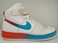 Nike Air Force 1 High 07 LV8 Shoes Mens Size 10.5 White Blue Fury CJ0525-100