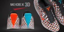 NIKE Kobe XI Low 3D Cool Grey Red Blue MultiColor WTK What The Bryant 6 VI Sz 12