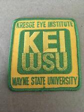 Vtg Wayne State University Michigan Kresge Eye Institute Sew On Patch KEI WSU