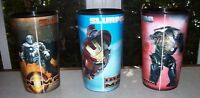 Lot of 3 COLLECTIBLE 2008 7 Eleven IRON MAN SLURPEE CUPS