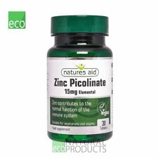 Natures Aid Vegano Zinc Picolinato 15 mg 30 comprimidos