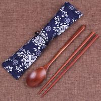 AU_ Creative Chinese Korean Wooden Chopsticks Spoon Cutlery Tableware Storage Ba