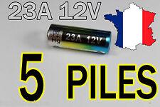 5 PILE 12V 60mAh 23A A23 23AE MN21 TELECOMMANDE-ALARME