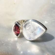 Natürliche Markenlose Echtschmuck-Ringe Granate