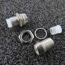 10x LED Schrauben Fassung Screw für 5mm LEDs CHROM Halter LED Schraube Fassungen