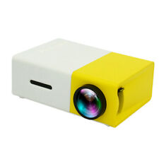 Mini  Portable Home Movie Projector for Cartoon Movie Home Theater Yellow