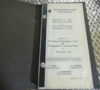 1937 Erie Railroad Company Manual of Instructions for Passengers Conductors
