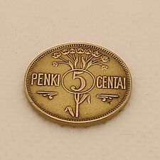 More details for lithuania 5 centai 1925 very nice coin!