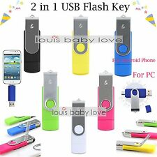 64 128 256 512GB OTG USB 2.0 Flash Drive Memory Thumb Key Stick Pen Storage UK