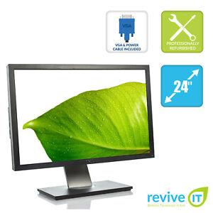"Dell UltraSharp U2410 24"" 1920x1200 LCD Monitor HDMI Dual DVI DP VGA Grade A"