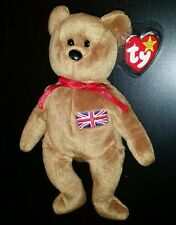 Ty Beanie Babies Britannia Exclusive Uk Bear Embroidered Flag - Indonesia