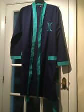 Tootal Men's Navy Kimono Style Tie Belt Cotton Dressing Gown Size 35-40in VGC