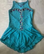 Ice Figure Skating Dress Customized Crystallization Size Girls 10-12