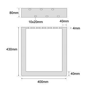 Tischbeine metall Tischkufen Tischgestell  Schwarz Transparent Industriedesign