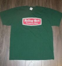 Rolling Rock Beer T Shirt Size Large Cotton Fol