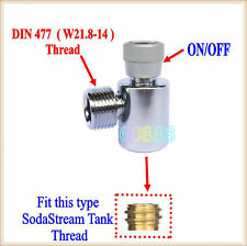 New CO2 Fill Adapters On/Off for SodaStream tank with W21.8 Thread  #5