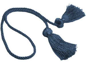 """French Blue 3 1/2"""" Double-Tassel Chair Tie [Invidual]"""