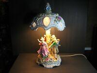 Dresden PMP Plaue Schierholz Porcelain Figural Floral Lamp w/ Lithophane Shade!