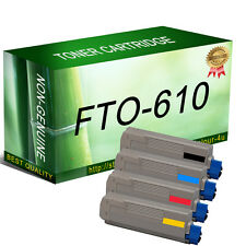 4 Toner Cartridges for OKI C610 C610dn C610dtn C610n Printer