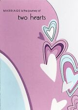 Wedding  Card Occasional Cards For Bride & Groom Abstract Hearts Purple