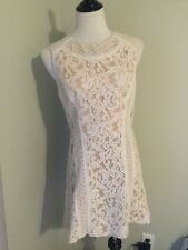 "White lace dress: BCBG Maxazria Womens Dress ""Avril"" Size 10 White NudeNew"