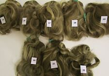 "VTG 100% Human Hair Wiglet / Cascade 13.5"" Brown Blonde Highlights NWT"