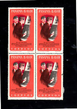 PANAMA #461A  1965  JFK,  SPACE CAPSULE     MINT VF NH O.G  BLOCK OF 4
