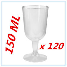 120 PK DISPOSABLE PARTY PLASTIC CLEAR WINE GLASS CUPS ALL Occasions FUNCTIONS AP