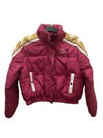 Kappa Womens Pink & Gold Padded Jacket Full Zipped Short Winter Coat Size Large