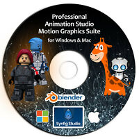 *Animation Studio 2019- 3D/2D Motion Graphics Software Suite-DVD Windows/Mac-NEW