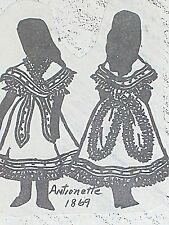 """Franki's Vintage Antique Parisian French Doll Pattern Antionette sizes13"""" to 27"""""""