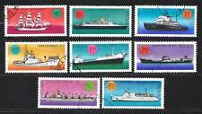 Bateaux Pologne (107) série complète de 8 timbres oblitérés