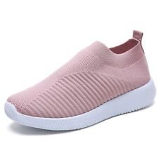 Womens Sport Air Cushion Sneakers Breathable Mesh Walking Slip-On Running Shoes