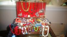 VINTAGE TO RETRO TO NOW ESTATE JEWELRY LOT JUNK DRAWER UNTESTED & UNSEARCHED