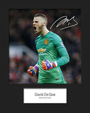 DAVID DE GEA - MANCHESTER UNITED Signed 10x8 Mounted Photo Print - FREE DEL