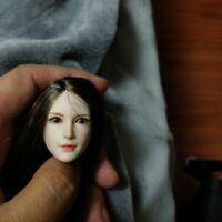 "1/6 Girl Head Sculpt Head Model SDH015D Fit 12"" Female Action Figuer Body Model"