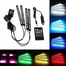 4*9 LED Car Light Interior Atmosphere SUV Floor Strip Lamp Remote Music R9