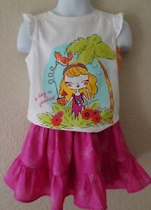 NWT GYMBOREE 18-24 2T 3T 4T 5T ISLAND GIRL SET OUTFIT SWING SKIRT PARADISE TEE