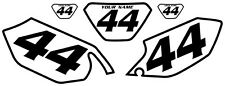 2003-2004 Yamaha WR250F Pre-Printed White Backgrounds with Black Bold Pinstripe