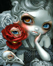 Jasmine Becket-Griffith art print creepy eye SIGNED The Nightingale and the Rose
