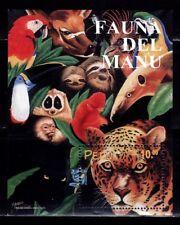 SELLOS FAUNA PERU 1999 HB 15 FAUNA DEL MANU 1v.