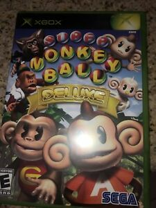 Xbox Super Monkey Ball Deluxe Game with Manual- Super Clean