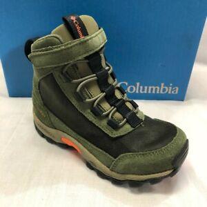 Columbia Little Kids Flow Borough Mid Hiking Shoe, Nori/Tangy Orange