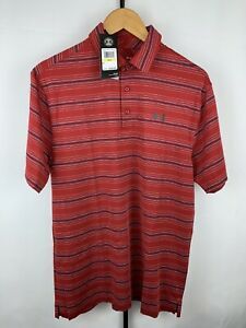Men's UNDER ARMOUR HeatGear red  Polo Shirt Loose Fit Size medium NWT