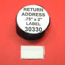 9 Rolls RETURN ADDRESS /  BARCODE LABEL fit DYMO 30330 - BPA Free