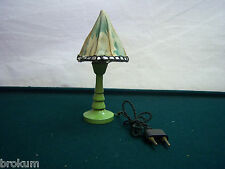 Dollhouse Miniature Painted Wood Electric Table Lamp Antique Furniture ~Germany